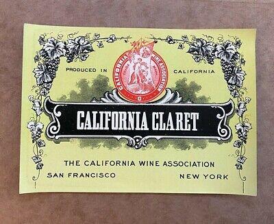 1940s CHILE Viña Lontue Santiago CORREA ERRÁZURIZ CLARET WINE label