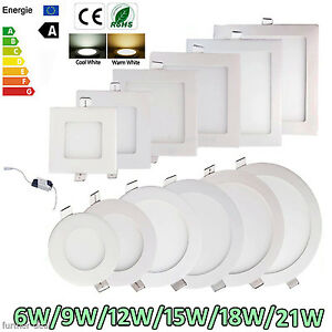 Dimmable-Epistar-Recessed-LED-Panel-Light-9W-12W-15W-18W-21W-Ceiling-Down-Lights