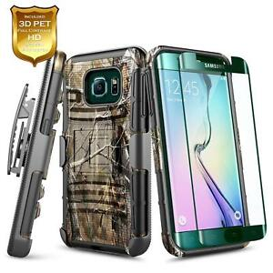 new arrival 56062 0bdfc Details about For Samsung Galaxy S7/Edge/S7 Active   Shockproof Holster  Clip Phone Cover Case