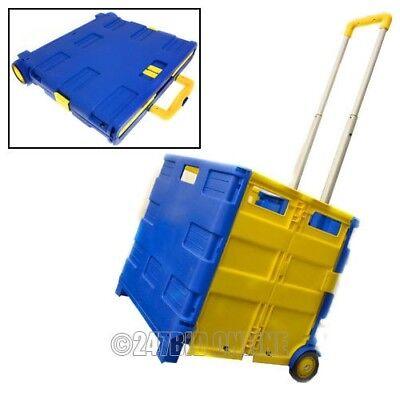 Cordiale Pieghevole Shopping Trolley Carrello Pieghevole Rotolamento Bagagliaio Storage Box 40kg Max.- Gradevole Al Gusto