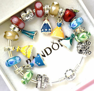 747fc71c8b6e Image is loading PANDORA-925-Bangle-Charm-Bracelet-and-European-Charms-