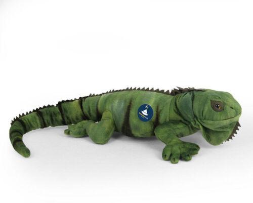 peluche doudou L. 66 cm Animal en Peluche Vert iguane lézard
