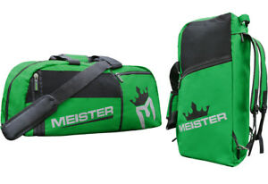 Image is loading MEISTER-CONVERTIBLE-BACKPACK-GYM-BAG-GREEN-Sports-MMA- 94520e245