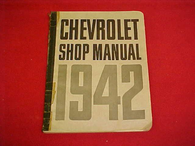 1942 chevrolet car truck original service shop repair manual 42 wiring  diagrams