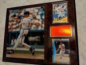 FRAMED-Autographed-Signed-CHIPPER-JONES-Atlanta-Braves-8x10-Photo-amp-cards-MLB