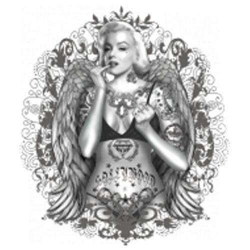 Worker Shirt mit einemTattoo-//Gothikmotiv Modell Modell Flaming  Marilyn Tattoo