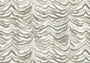 Designer Fabric White Gray Beige Cotton Print Geometric Drapery Upholstery Ebay