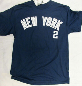 sports shoes 9a376 01651 Details about Genuine Merchandise Adult New York Yankees Jeter #2 Navy Blue  T-Shirt Tee NEW
