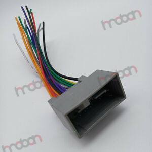 Details about Car Stereo CD DVD Player Wiring Harness Wire Adapter on