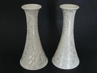 "Lenox  Pair of  /"" The Snowman Candlesticks /""  5.5/"" Tall  Mint"