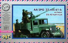 1/72 WWII 37mm Self-Propelled Gun on ZIS-42 Half-Truck PST 72033 Models kits