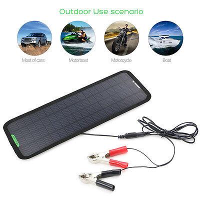 New Smart 18V 5W Portable Car Boat Power Solar Panel Battery Backup Charger US