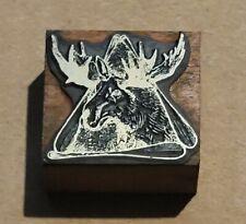 Printing Letterpress Printer Block Printing Block Canadian Moose