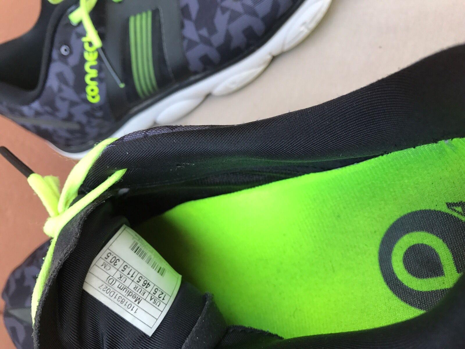 EUC Brooks Pure Connect 4 Uomo 12.5 SneakerS US 12.5 Uomo Nero Green White Tennis Shoes 2d7680
