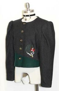 Short M ~ Coat Winter Women Embr Christmas German Dress Black Jacket Wool 741587283942 Pq6II
