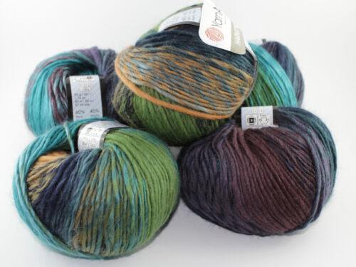 50g 50g Weiche Wolle mit Farbverlauf HARMONY Ozean YarnArt 60/%Wolle 80m