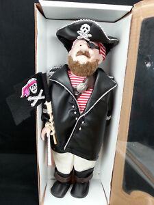 Duck-House-Heirloom-Doll-Pirate-BlackBeard-18-034-No-Certificate-amp-Stand-Hook-Hand