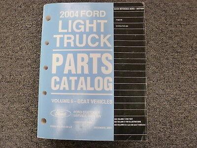 ford  pickup truck parts catalog manual xl stx