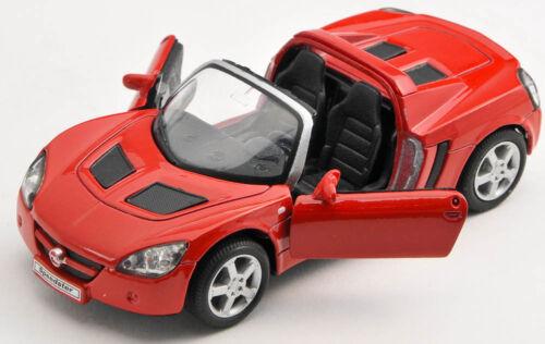 BLITZ VERSAND Opel Speedster 2001 rot red Welly Modell Auto 1:34 NEU /& OVP