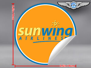 SUNWING-AIRLINES-SUN-WING-ROUND-LOGO-STICKER-DECAL