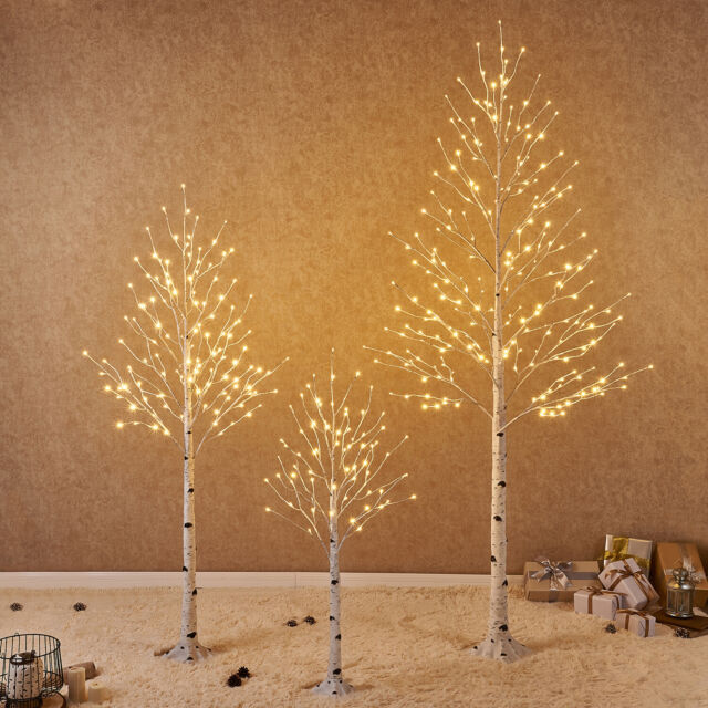 Hairui Lighted White Birch Twig Tree Twinkle LED Christmas Home Party  Decoration