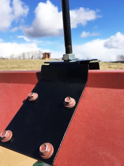 WOLF 1 Metal Plasmacut Wind Direction Roof Decor