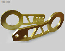 EVO X XI 7 8 9 10 LANCER MIRAGE JDM ALUMINUM QUALITY GOLD FRONT & REAR TOW HOOK