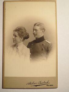 Neisse-Soldat-und-schoene-Frau-1905-Regiment-Nr-6-CDV