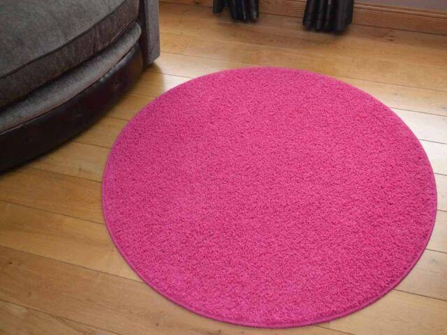 Small Large Round Circle Circular Plain Modern Colours Shaggy Rugs Mats Cheap