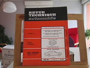 REVUE-TECHNIQUE-AUTOMOBILE-N-251-1967-TBE-OPEL-KADETT-REKORD-CITROEN-ID-19-ID19