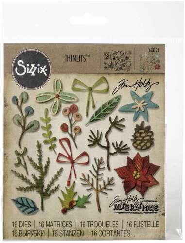 Sizzix Thinlits Dies By Tim Holtz 18//Pkg Funky Festive 630454254997