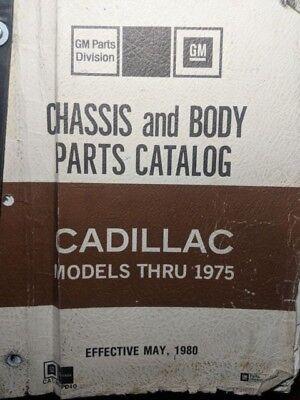 1970 71 72 73 74 75 Cadillac - Telaio Corpo E Catalogo Ricambi