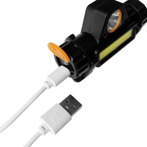 XPE COB LED Headlamp USB Rechargeable Mini Headlight head light Torch Flashlight