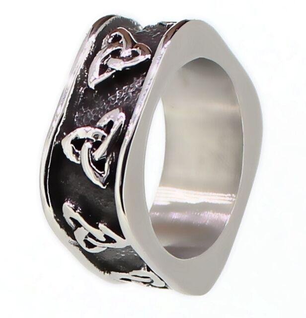 budawi® Ring Herren Edelstahl Keltischer Knoten Triquetra