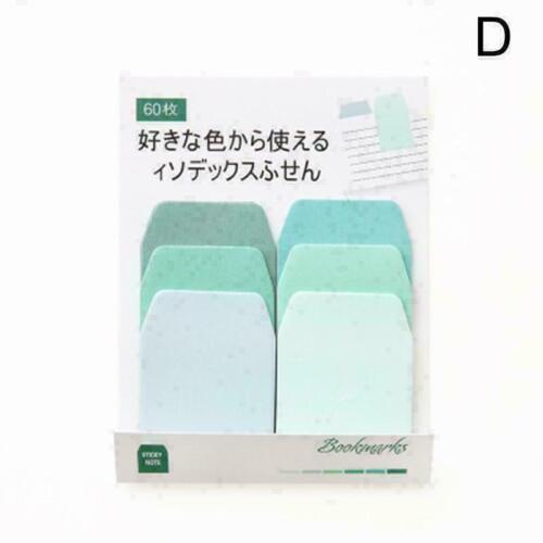 2×60 Seiten Farbverlauf Papier pad Lesezeichen Aufkleber Notizblock Briefpa A3B4