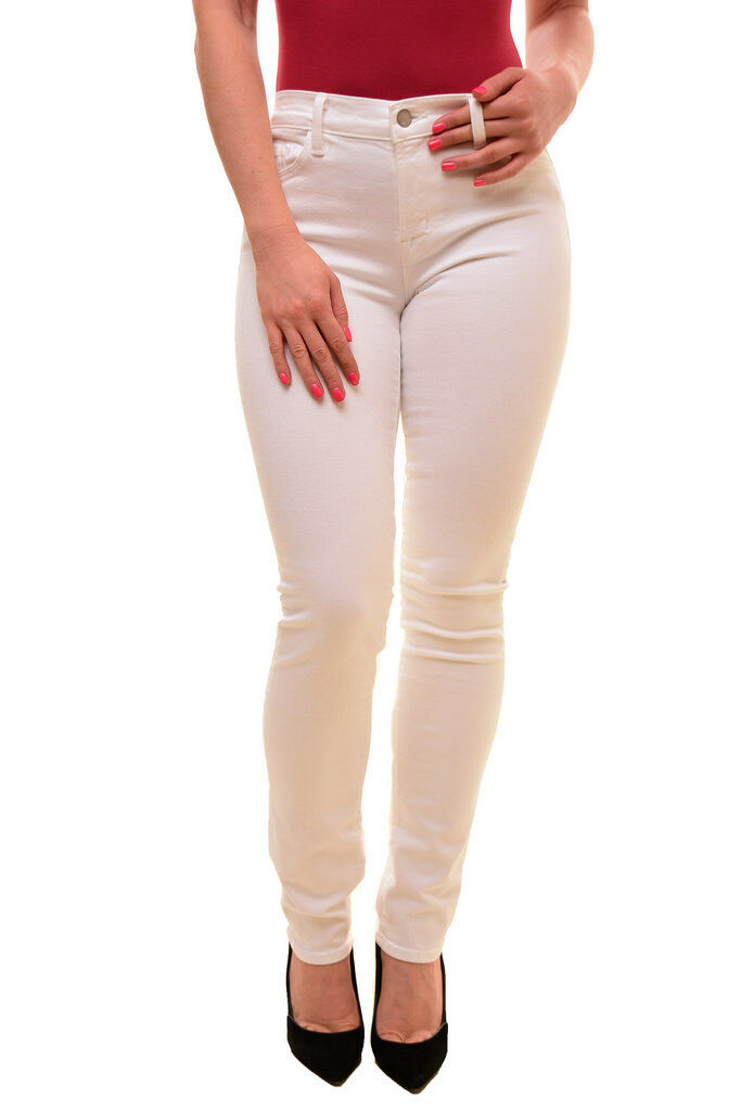 J BRAND Women's Unique Skinny Leg Mid Rise Jeans white Size 28 RRP  BCF79