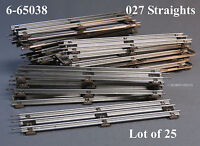 Lionel 027 Track Standard Straight Sections O Gauge Train 6-65038 Lot Of 25