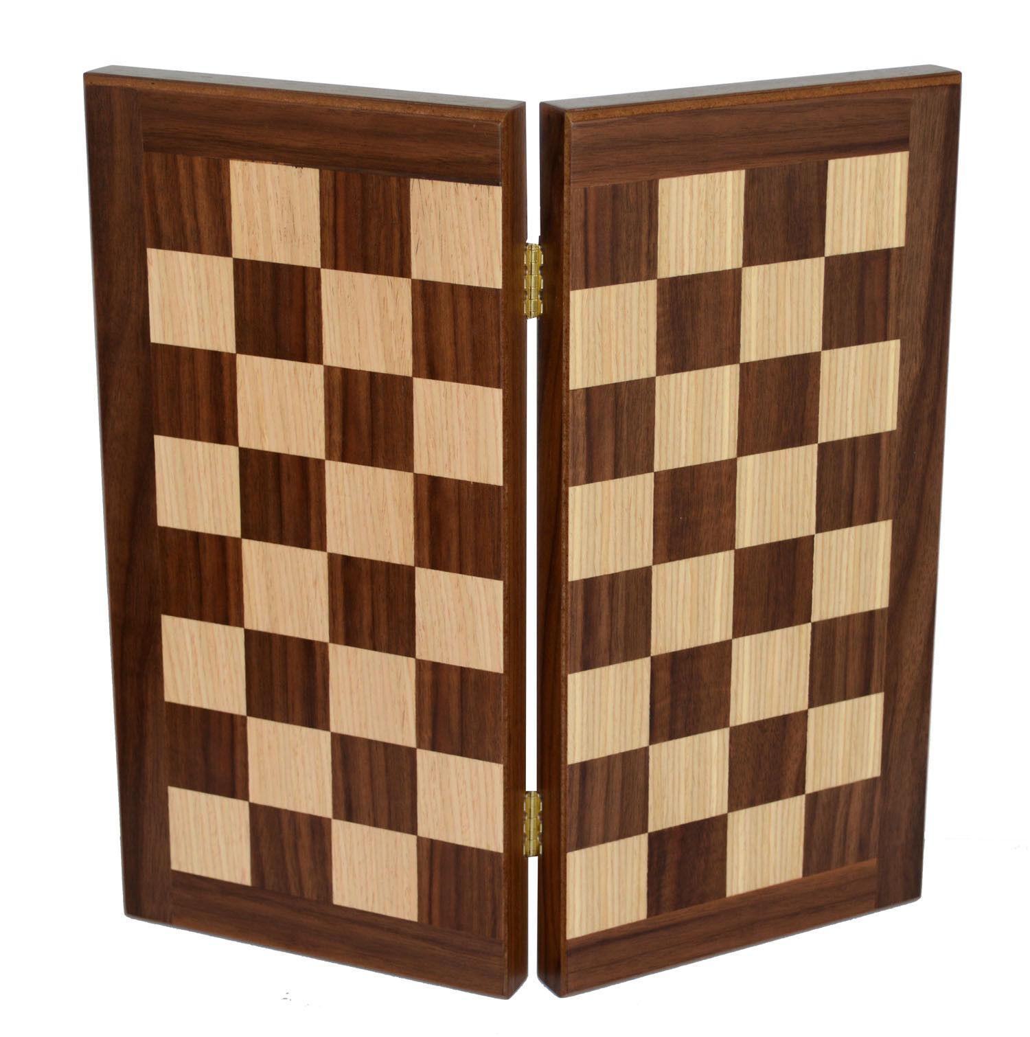 Traditional 15  Walnut Backgammon Backgammon Backgammon Chess Set by Manopoulos - Without chess pawns cb6550