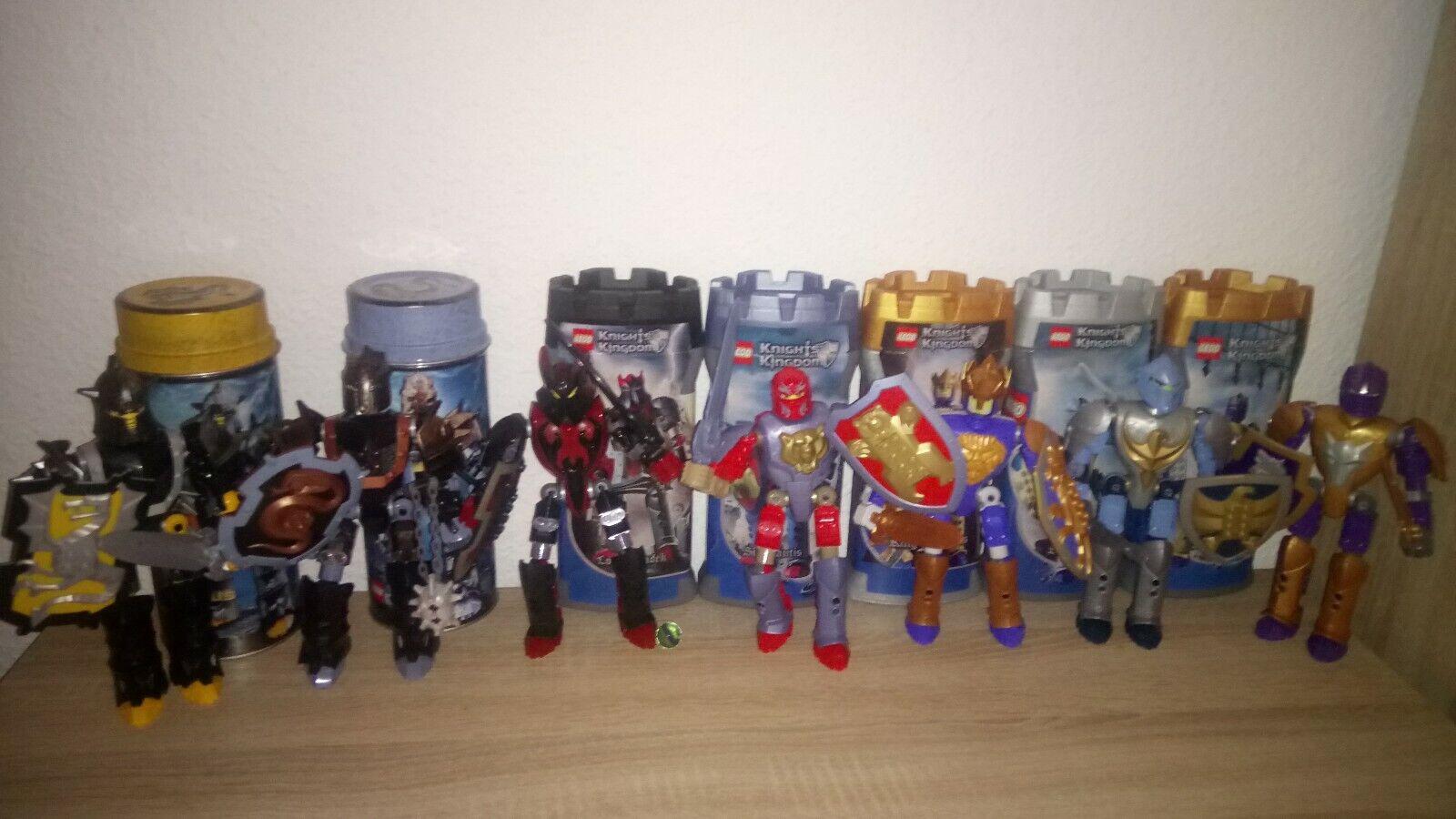 Knight Kingdoms Lego Sammlung mit Verpackung und Gebrauchsanweisungen 7 Ritter