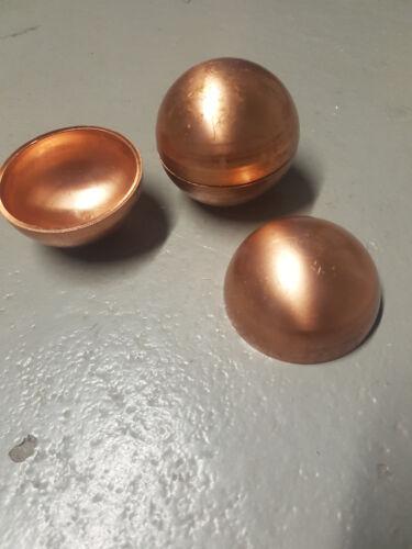 Messing Halbkugel Durchmesser Ø 60mm Dicke 2,5mm Roh