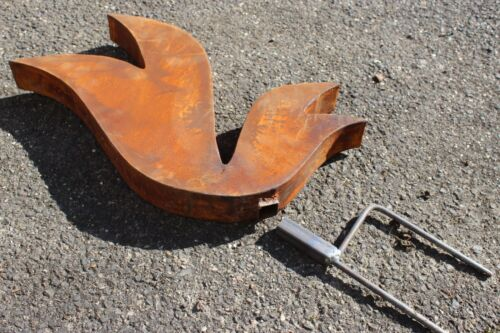 Garten Edelrost Gartenskulptur Gartenstecker Rost Garten Figure H60*65*5cm