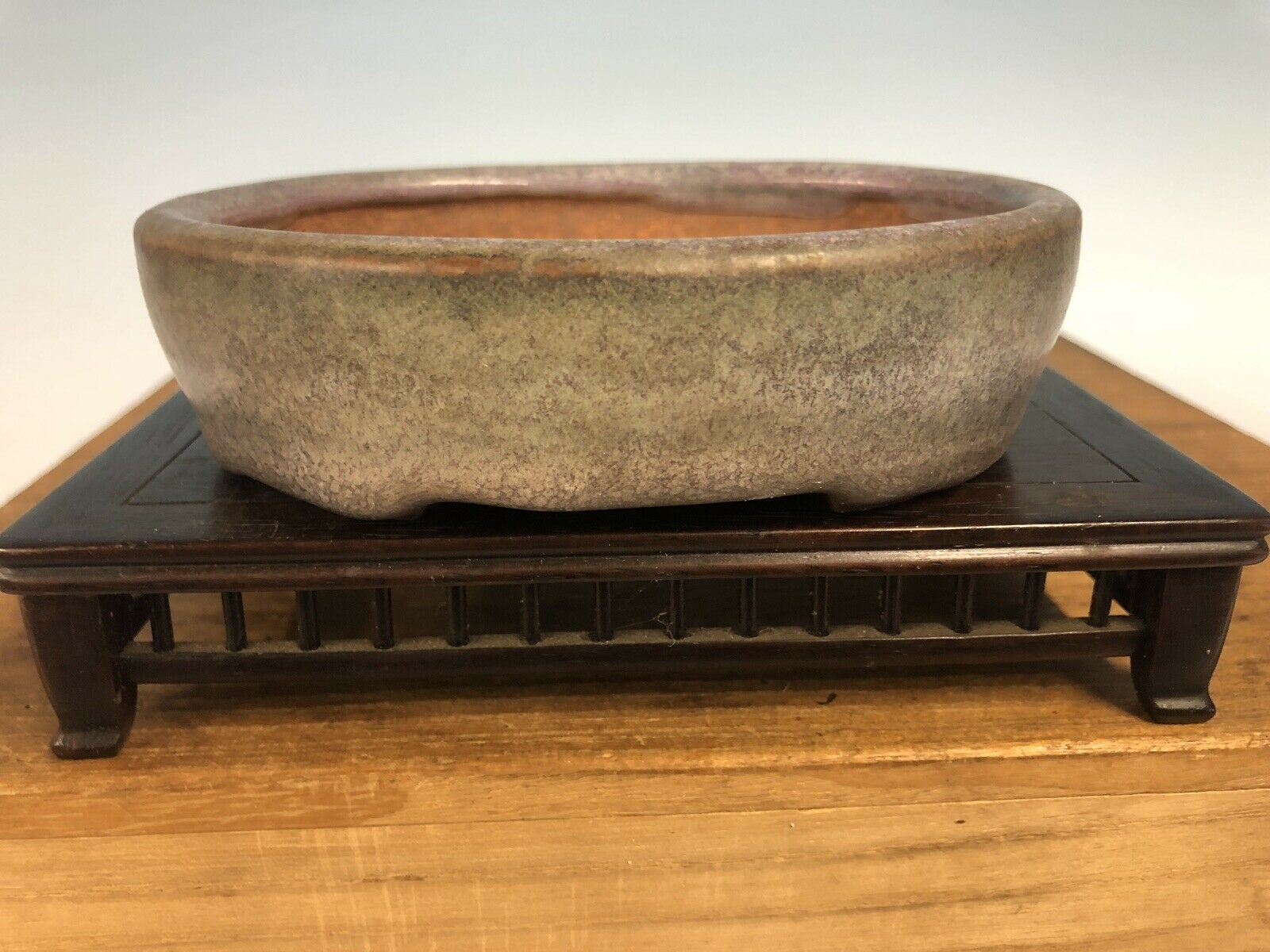 Bellamente Esmaltado Shohin tamaño Tokoname Bonsai árbol Olla de Hattori 4 7 8