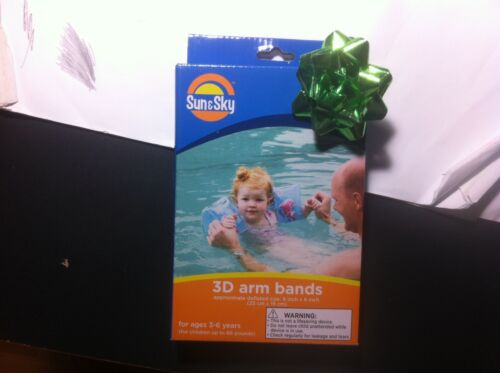 Details about  /New Sun /& Sky Kid/'s Begin to Swim 3D Arm Bands 9 in Frog