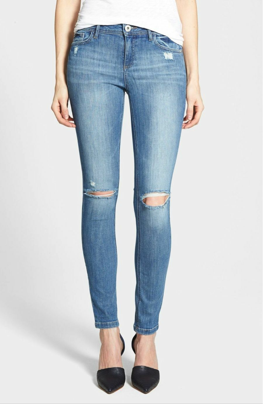 DL1961 Florence Instasculpt Skinny Distressed Jeans in Dixie, sz 29