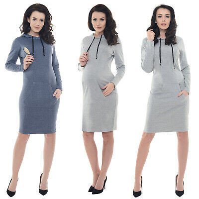 Purpless Maternity Pregnancy and Nursing Front Tie Dress Top with Pockets B6204