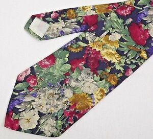 Brooks Brothers Makers Tie 57 Inches All Imported Silk Multi-Color Floral USA