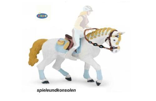 Papo 51545 Cheval de la Cavalière à la Mode Bleu 14 cm Monde de Cheval