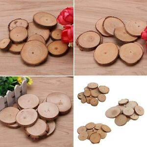 Image Is Loading 10pcs Rustic Natural Round Wood Pine Tree Slices