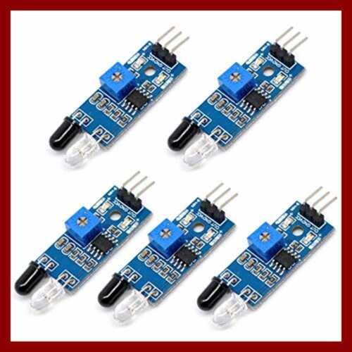 5Pcs IR Infrared Barrier Module Sensor Obstacle Avoidance For Arduino Intelligen