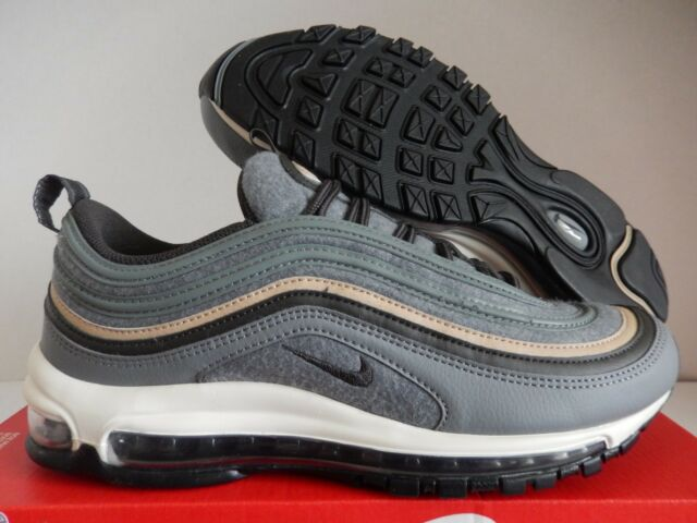 size 40 77fb2 b7036 Nike Air Max 97 Premium Cool Grey Deep Pewter Mushroom Wool Men 312834-003  10